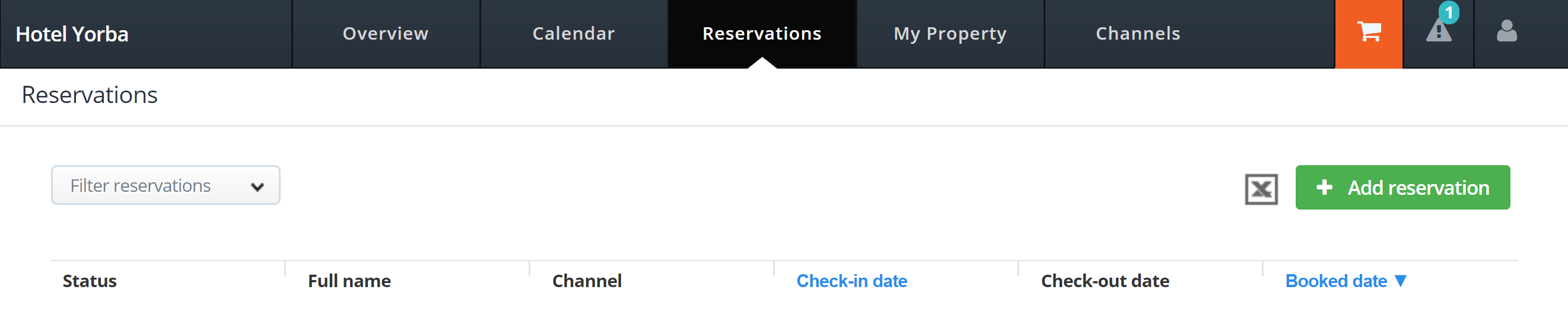 How to test your connection to MyHotelCRS.com.com calendar