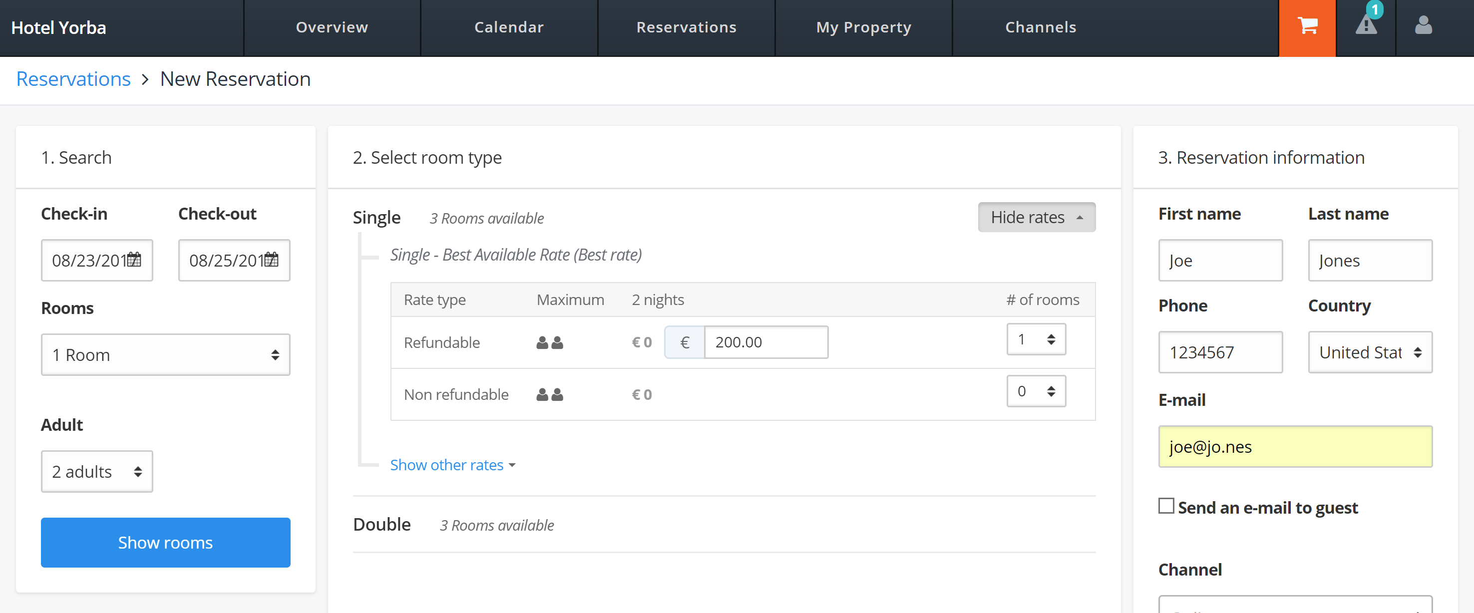 How to test your Booking connection to MyHotelCRS.com.com calendar